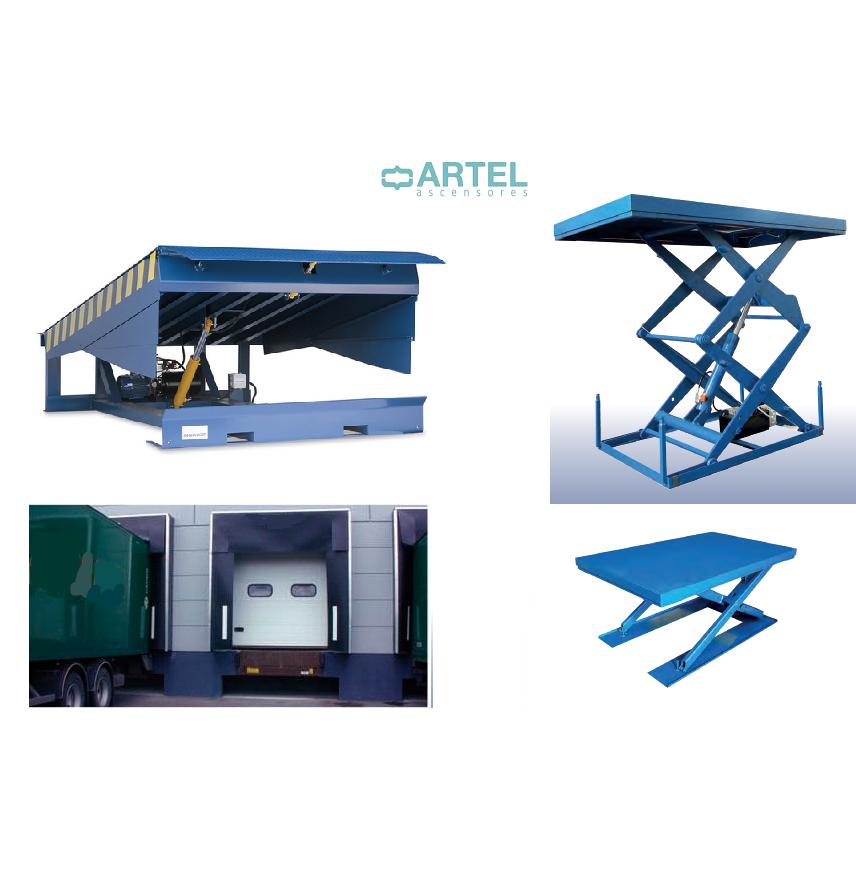 Mesas elevadoras, Abrigos para muelles de carga, Rampas - Artel