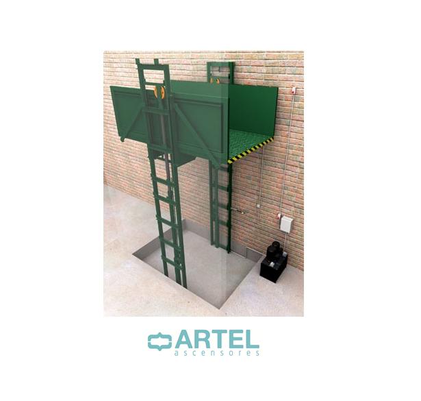 Plataformas elevadoras de carga - Artel Ascensores